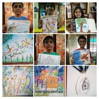 Learn to draw and Color, create your vision on canvas. I am located in Bangalore. I am a self trained artist already conducting art classes in Bangalore for children.