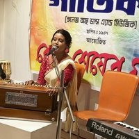 B. Mus and M. Mus from BENGAL MUSIK COLLEGE .CALCUTTA UNIVERSITY . I will help you to sing classical,rabindra sangit etc